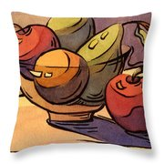 Bowl Of Fruit 8 Throw Pillow