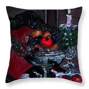 Bowl Of Holiday Passion Throw Pillow