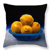 Bowl Of Lemons Throw Pillow