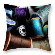 Bowl Of Thread Throw Pillow
