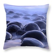 Bowling Ball Beach California Throw Pillow
