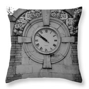 Bowling Green Time In Black And White Throw Pillow