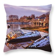Bowling Harbour 03 Throw Pillow