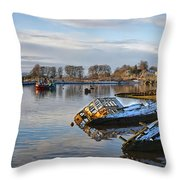 Bowling Harbour Panorama 01 Throw Pillow