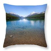 Bowman Lake Throw Pillow