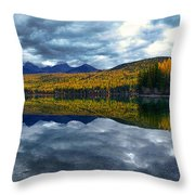 Bowman Lake Quietude Throw Pillow