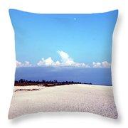 Bowman's Beach Throw Pillow