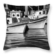 Bows Out Black And White Throw Pillow