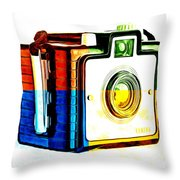 Box Camera Pop Art 3 Throw Pillow