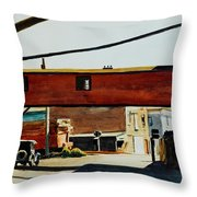 Box Factory Throw Pillow by Edward Hopper