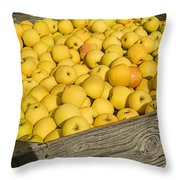 Box Of Golden Apples Throw Pillow
