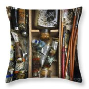 Box Of Painting Throw Pillow