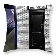 Box Office Of Games Gone By Throw Pillow