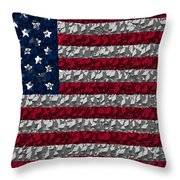 Boxed Flag Throw Pillow