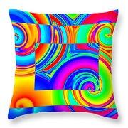 Boxed Rainbow Swirls 1 Throw Pillow