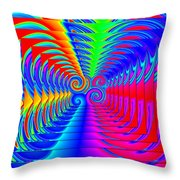 Boxed Rainbow Swirls 2 Throw Pillow
