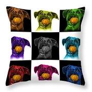 Boxer Mix Dog Art - 8173 - V1 - M Throw Pillow