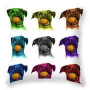 Boxer Mix Dog Art - 8173 - Wb - M Throw Pillow