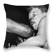Boxer Near His Limit Throw Pillow