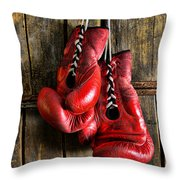 Boxing Gloves - Now Retired Throw Pillow