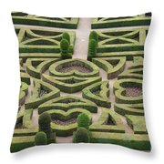 Boxwood Garden - Chateau Villandry Throw Pillow