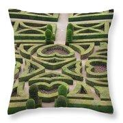 Boxwood Garden - Chateau Villandry Throw Pillow