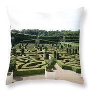 Boxwood Garden Design - Chateau Villandry Throw Pillow