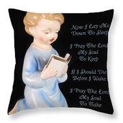 Boy Childs Bedtime Prayer Throw Pillow