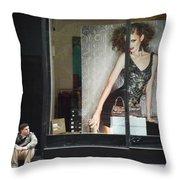 Boy Meets Girl Throw Pillow