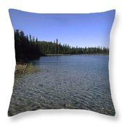 Boya Lake Throw Pillow