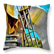 Boyd Plaza Fountain Revisited Throw Pillow