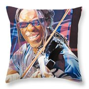 Boyd Tinsley And 2007 Lights Throw Pillow by Joshua Morton