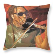 Boyd Tinsley At Red Rocks Throw Pillow by Joshua Morton