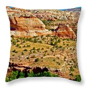 Boynton Overlook On Highway 12 In Grand Staircase-escalante National Monument-utah Throw Pillow