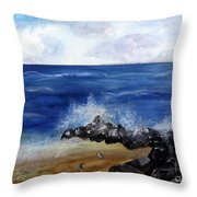 Boynton Waves Throw Pillow