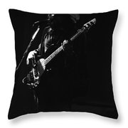 Boz On The Bass Guitar 1977 Throw Pillow