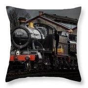 Br Steam Train And Gwr Pannier Tank Throw Pillow