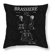 Bra Patent 16 Throw Pillow