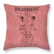 Bra Patent 17 Throw Pillow