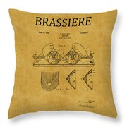 Bra Patent 19 Throw Pillow