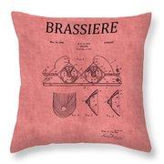 Bra Patent 21 Throw Pillow