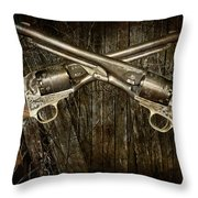 Brace Of Colt Navy Revolvers Throw Pillow