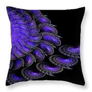 Brachiopod Colony Throw Pillow