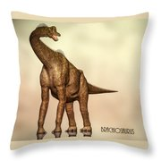 Brachiosaurus Dinosaur Throw Pillow