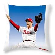 Brad Lidge Champion Throw Pillow
