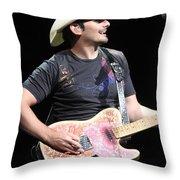 Brad Paisley Throw Pillow