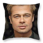 Brad Pitt Throw Pillow
