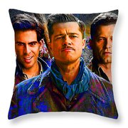 Brad Pitt Original Throw Pillow