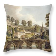 Bradford, From Bath Illustrated Throw Pillow