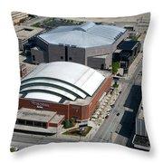Bradley Center And Us Cellular Arena Throw Pillow